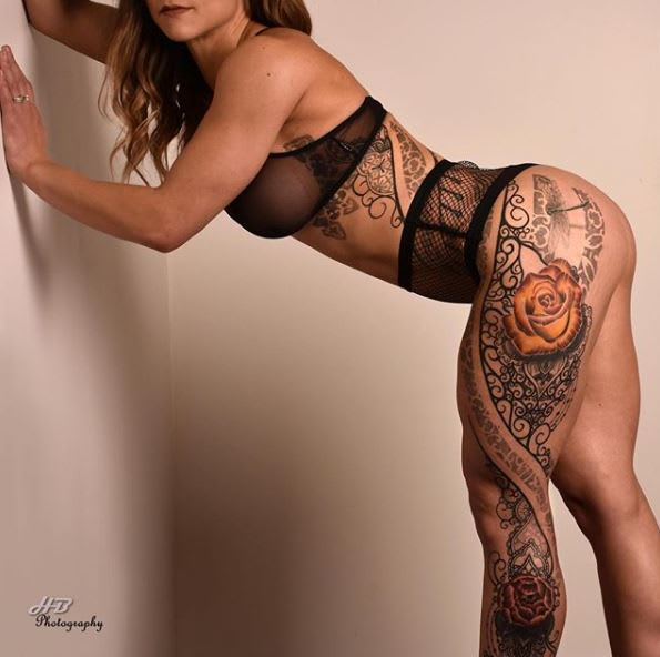 tattoo by @ryansmithtattooist - model: @jessicamayfitness - photo credit: @houseofbeauty.yyc