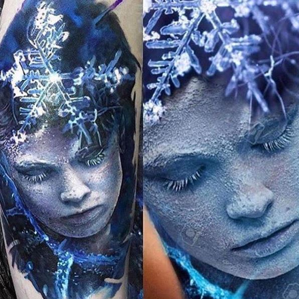 Realistic Portrait by @laky_tattoo