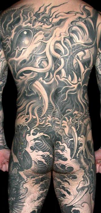 Back Piece tattoo by Filip Leu